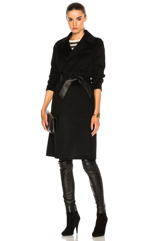 Image 1 of Saint Laurent Cashmere Double Face Coat in Black