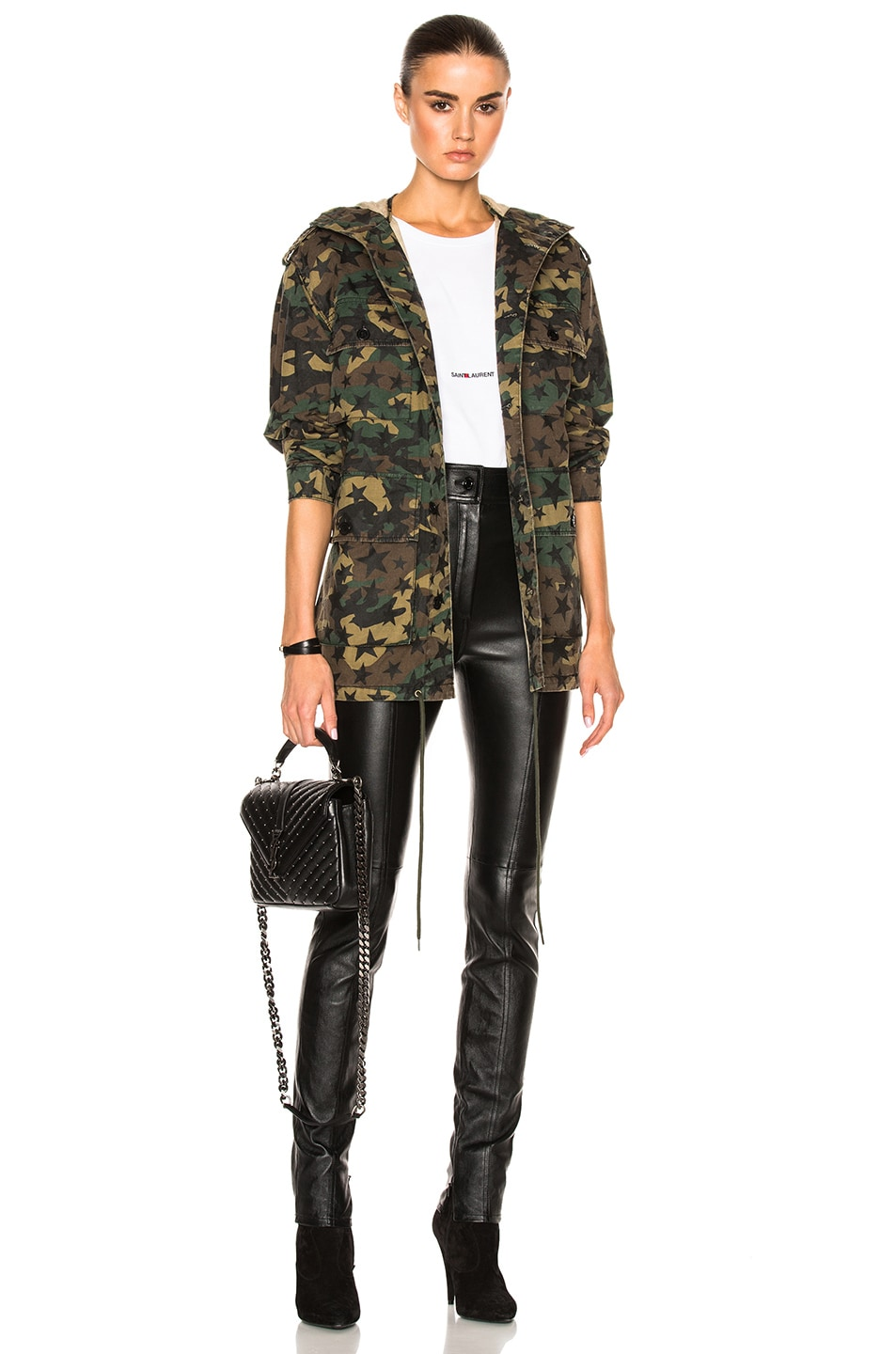 Image 1 of Saint Laurent Army Camouflage Jacket with Stars in Army Camouflage