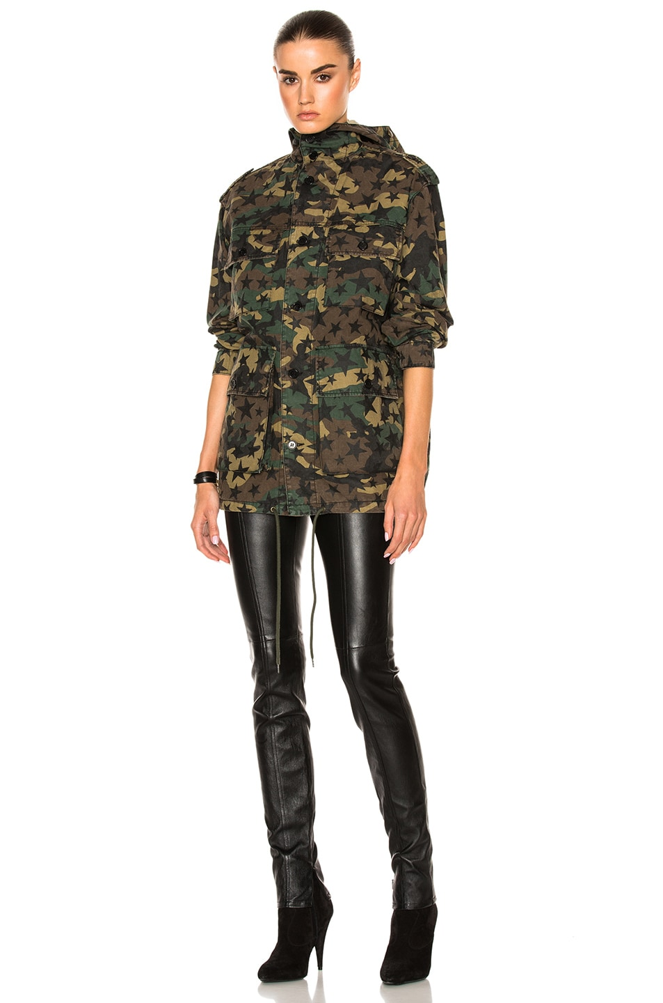 Image 2 of Saint Laurent Army Camouflage Jacket with Stars in Army Camouflage