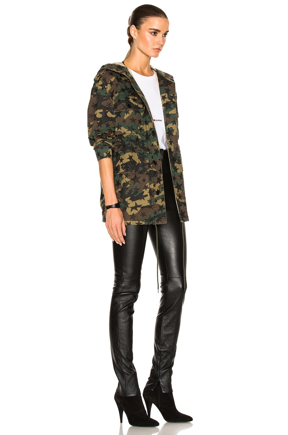 Image 4 of Saint Laurent Army Camouflage Jacket with Stars in Army Camouflage