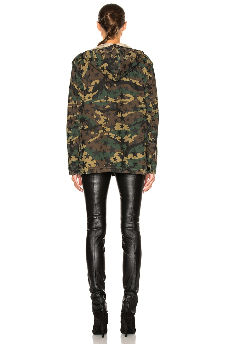 Image 5 of Saint Laurent Army Camouflage Jacket with Stars in Army Camouflage