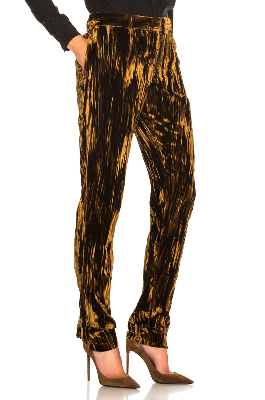 Image 2 of Saint Laurent Velvet Trousers in Bronze
