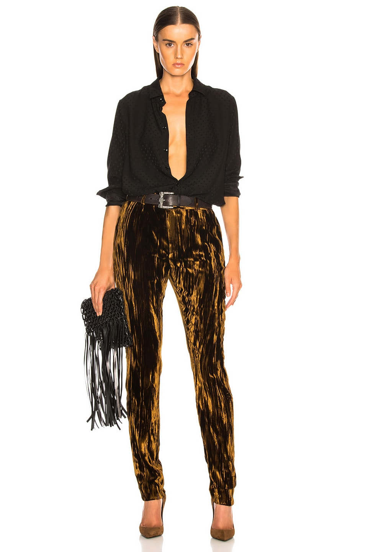 Image 4 of Saint Laurent Velvet Trousers in Bronze