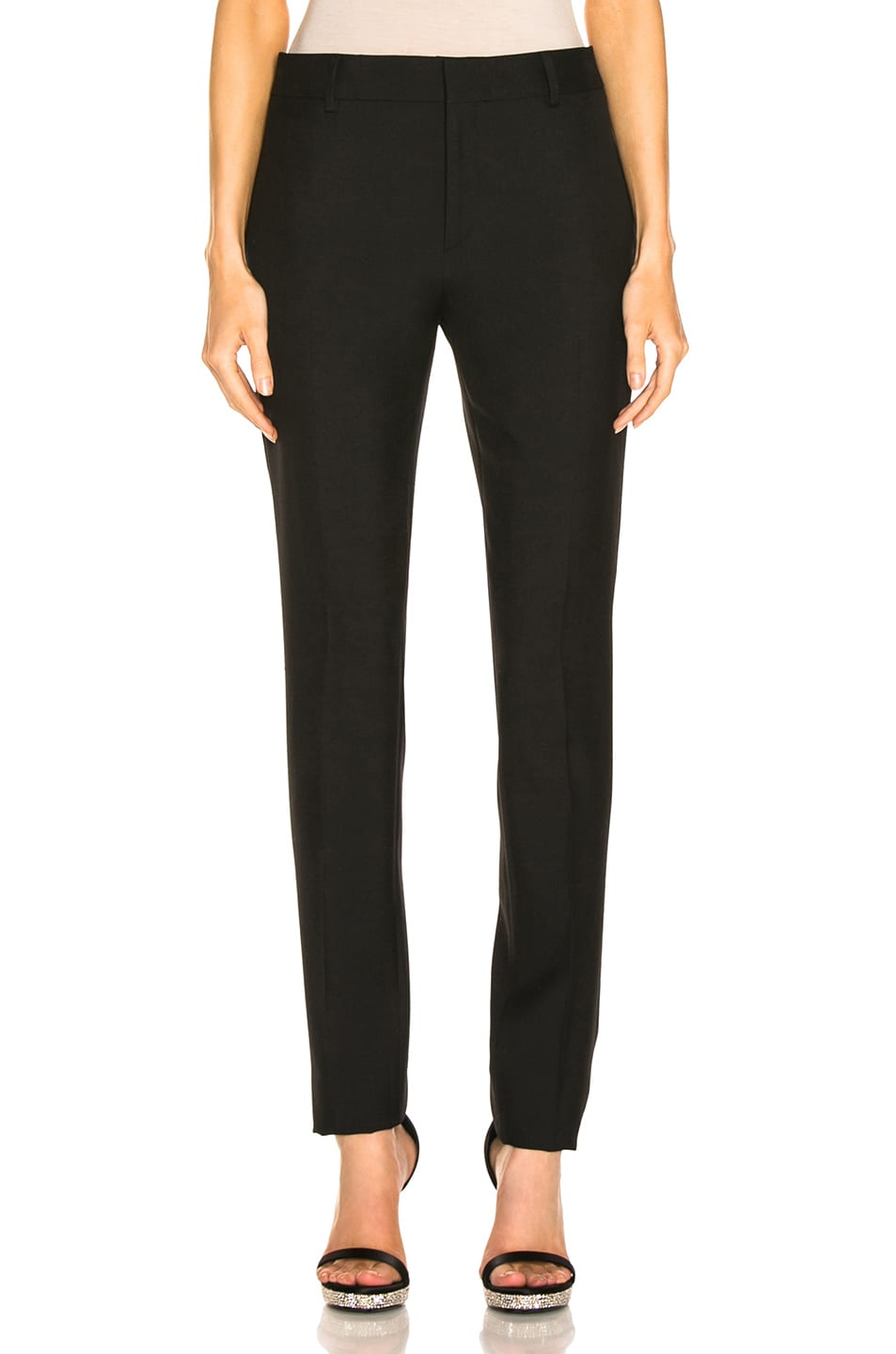 Image 1 of Saint Laurent High Waist Tailored Pant in Black