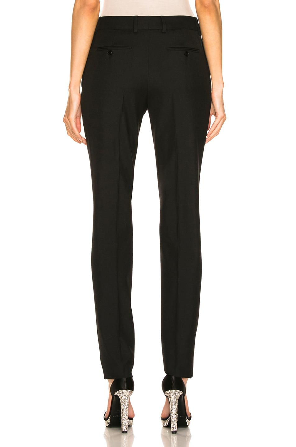 Image 3 of Saint Laurent High Waist Tailored Pant in Black