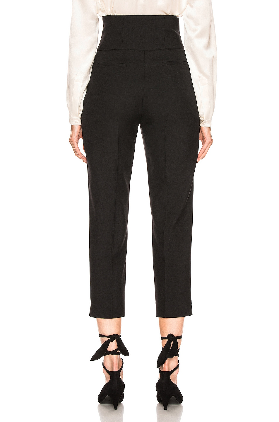 Image 3 of Saint Laurent Button Tailored Pant in Black