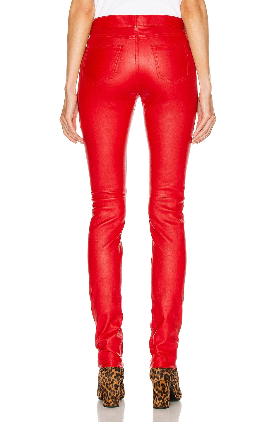 Image 3 of Saint Laurent Skinny Pant in Red