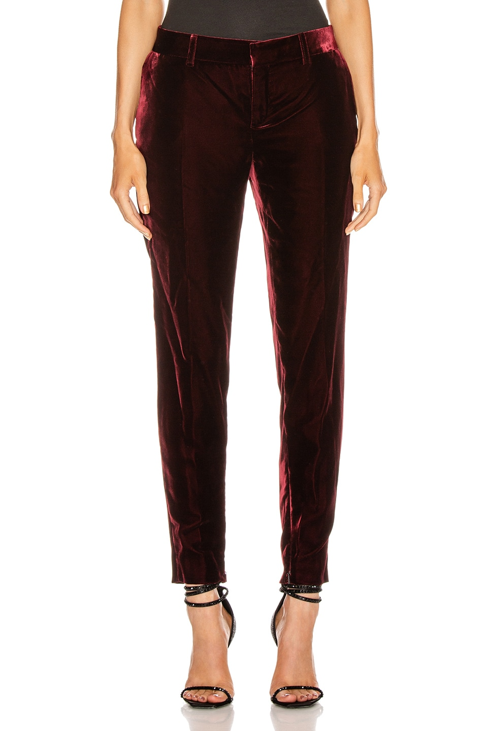 Image 1 of Saint Laurent Skinny Tailored Pant in Bordeaux