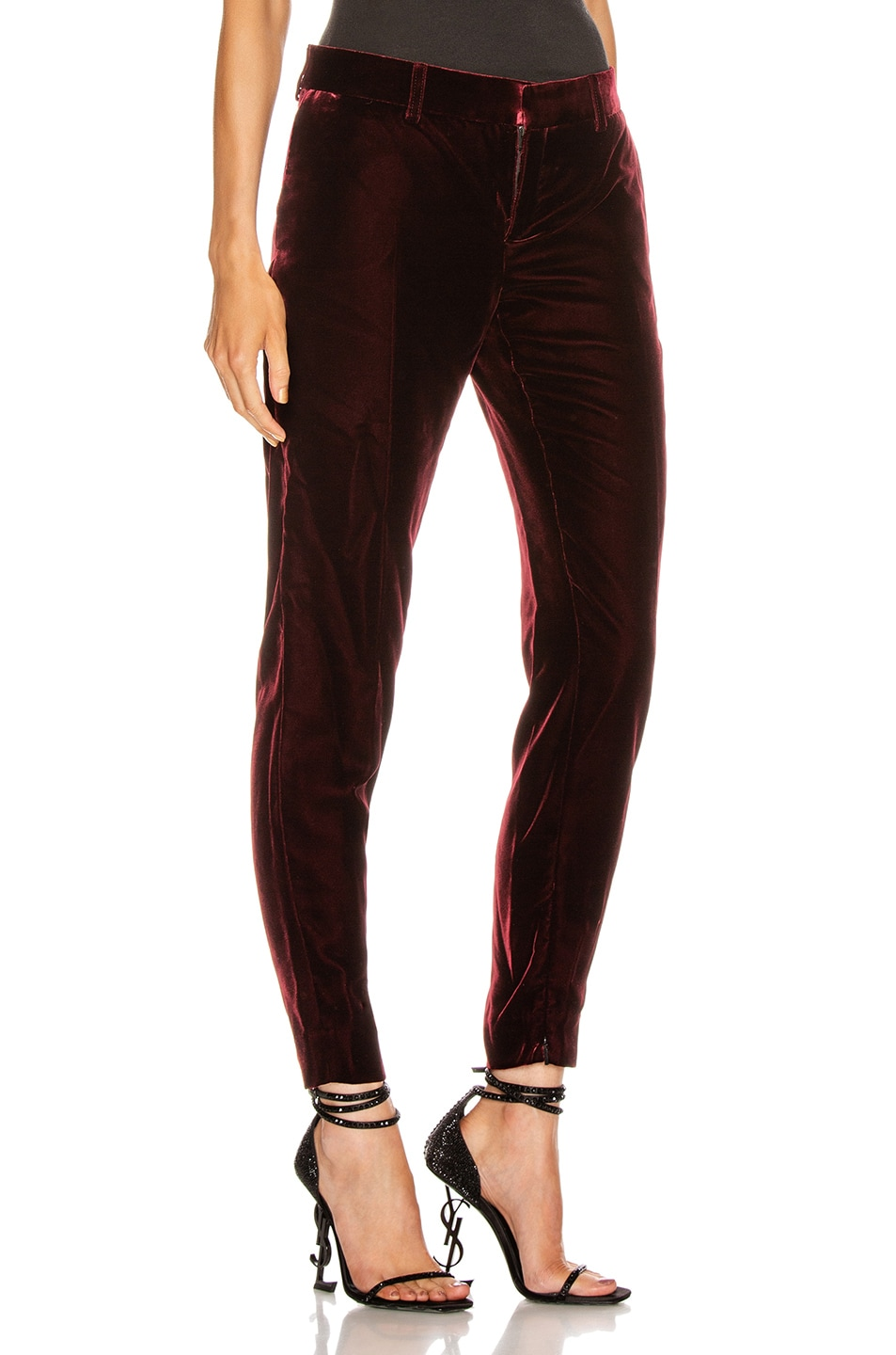 Image 2 of Saint Laurent Skinny Tailored Pant in Bordeaux