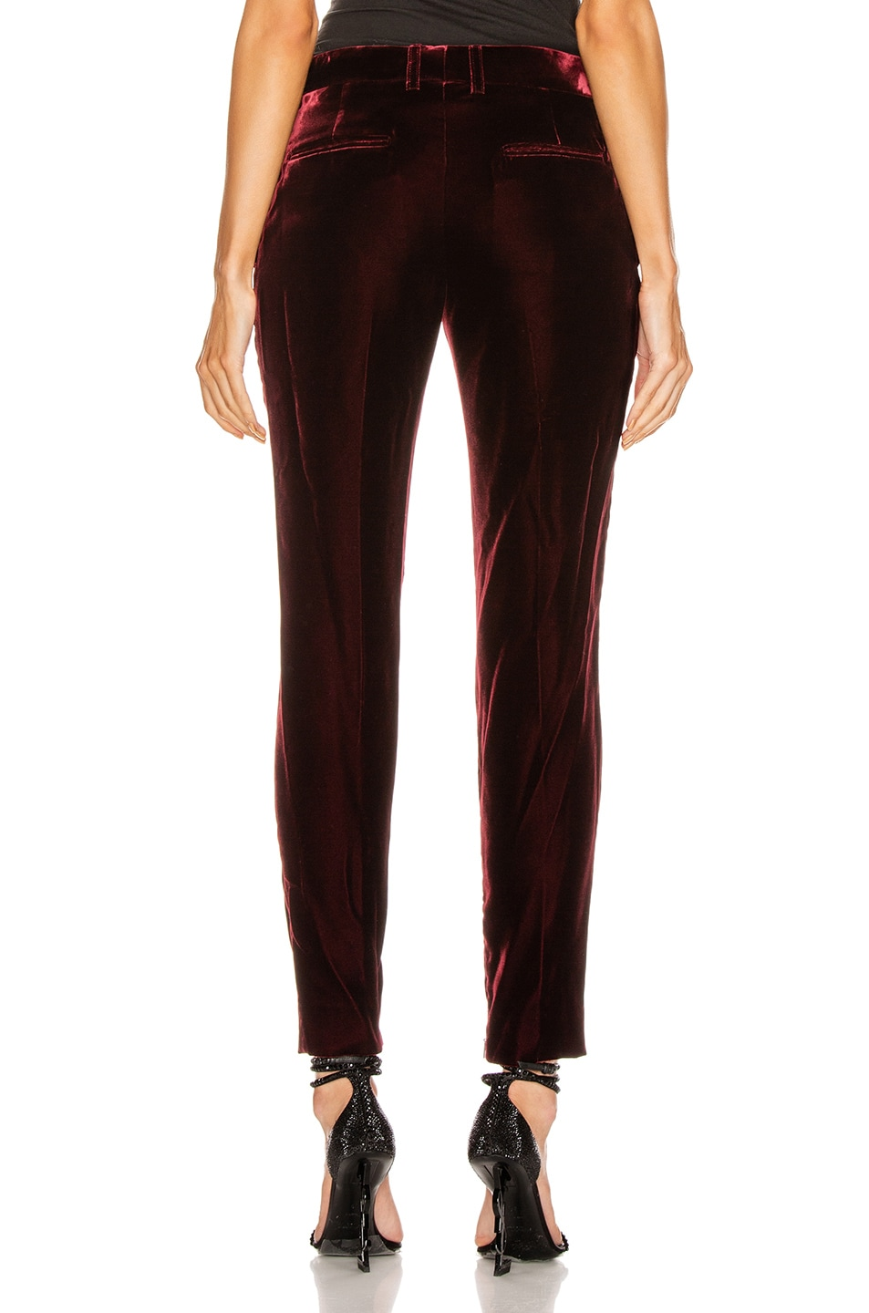 Image 3 of Saint Laurent Skinny Tailored Pant in Bordeaux