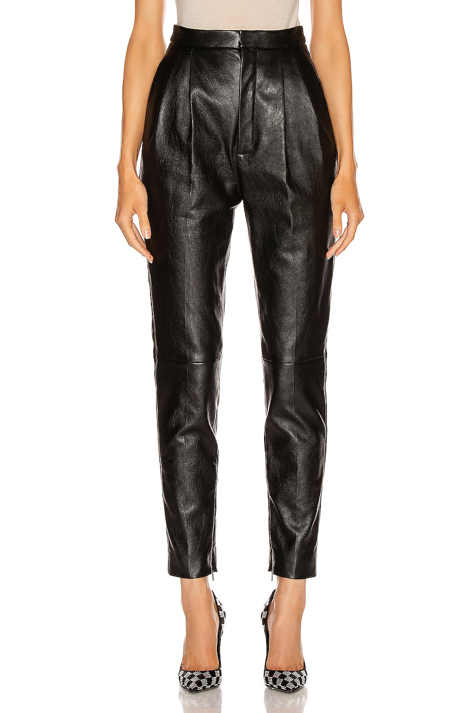 Image 1 of Saint Laurent Leather Pant in Black