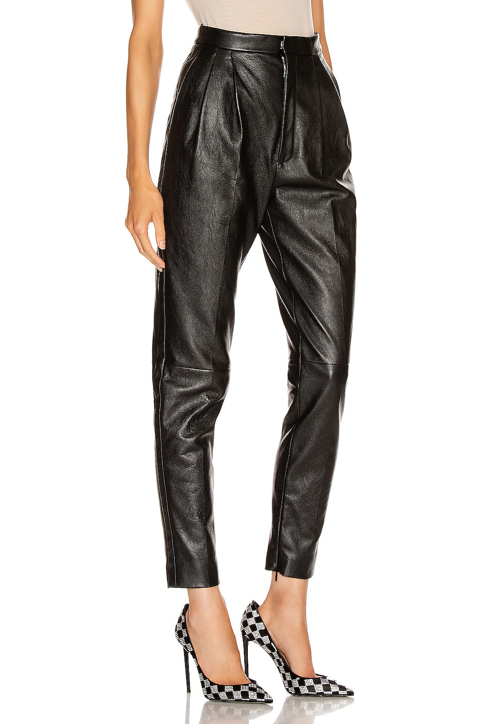 Image 2 of Saint Laurent Leather Pant in Black