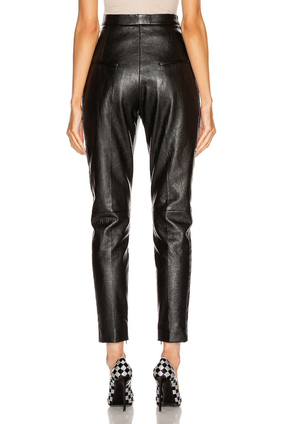 Image 3 of Saint Laurent Leather Pant in Black