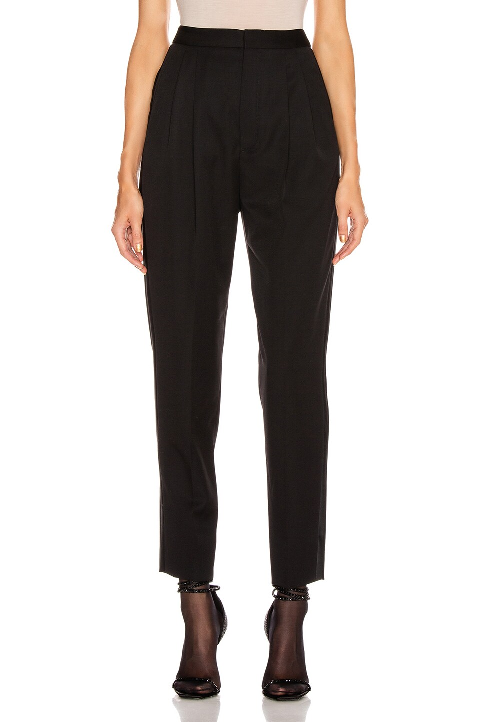 Image 1 of Saint Laurent Tailored Pant in Black
