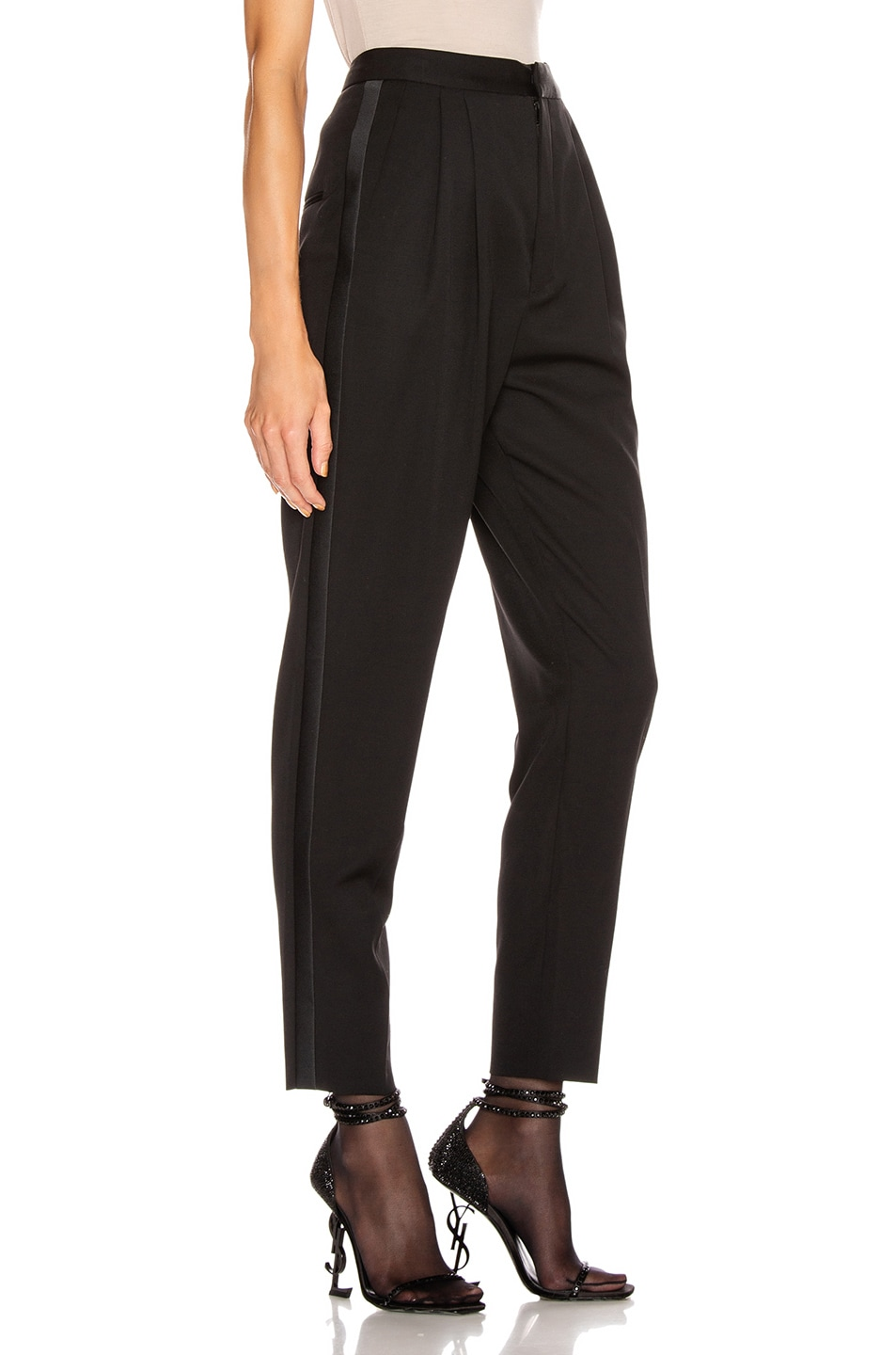 Image 2 of Saint Laurent Tailored Pant in Black