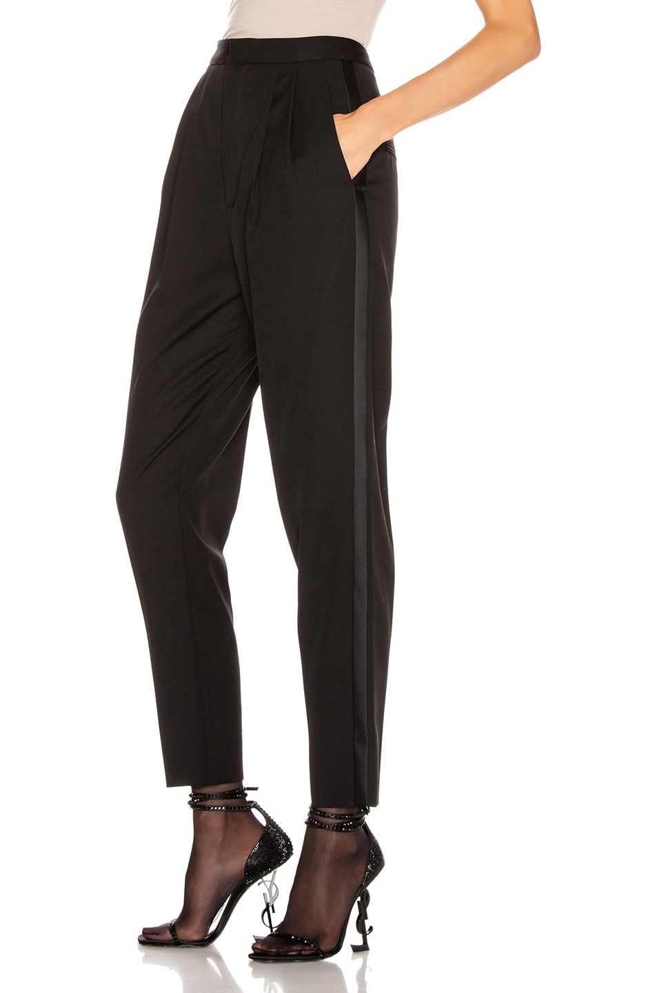 Image 3 of Saint Laurent Tailored Pant in Black