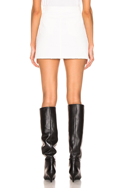 Image 3 of Saint Laurent Classic Skirt in White Stonewash