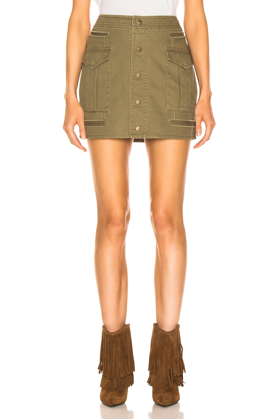 Image 1 of Saint Laurent Sportswear Skirt in Olive