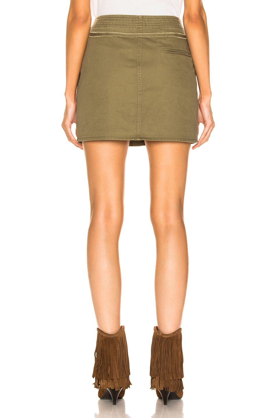 Image 3 of Saint Laurent Sportswear Skirt in Olive