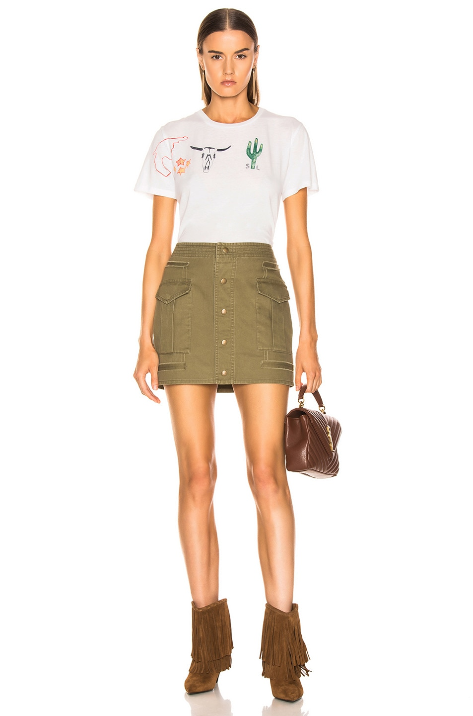 Image 4 of Saint Laurent Sportswear Skirt in Olive