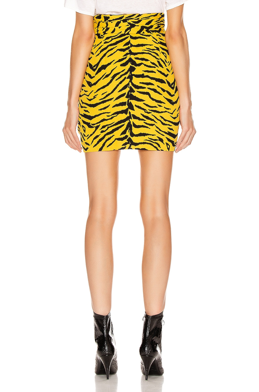 Image 3 of Saint Laurent Zebra Mini Skirt in Yellow & Black