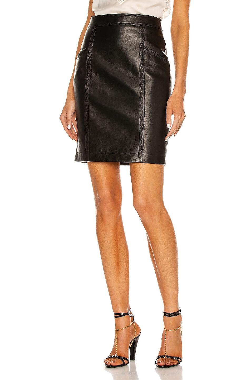 Image 1 of Saint Laurent Pocket Mini Skirt in Noir