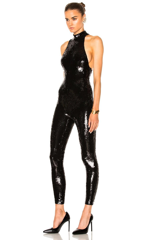 1675474c8b81 Image 2 of Saint Laurent Paillette Embroidery Jersey Jumpsuit in Black