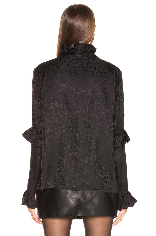 SAINT LAURENT Blouses Ruffle Sleeve High Neck Blouse
