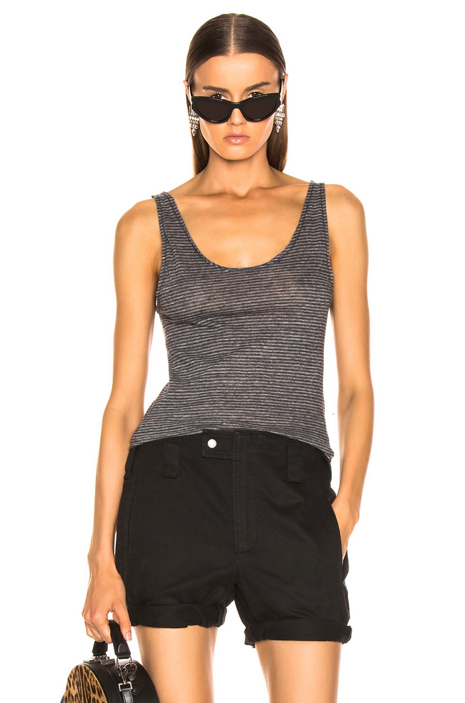 Image 1 of Saint Laurent Tank Top in Gray
