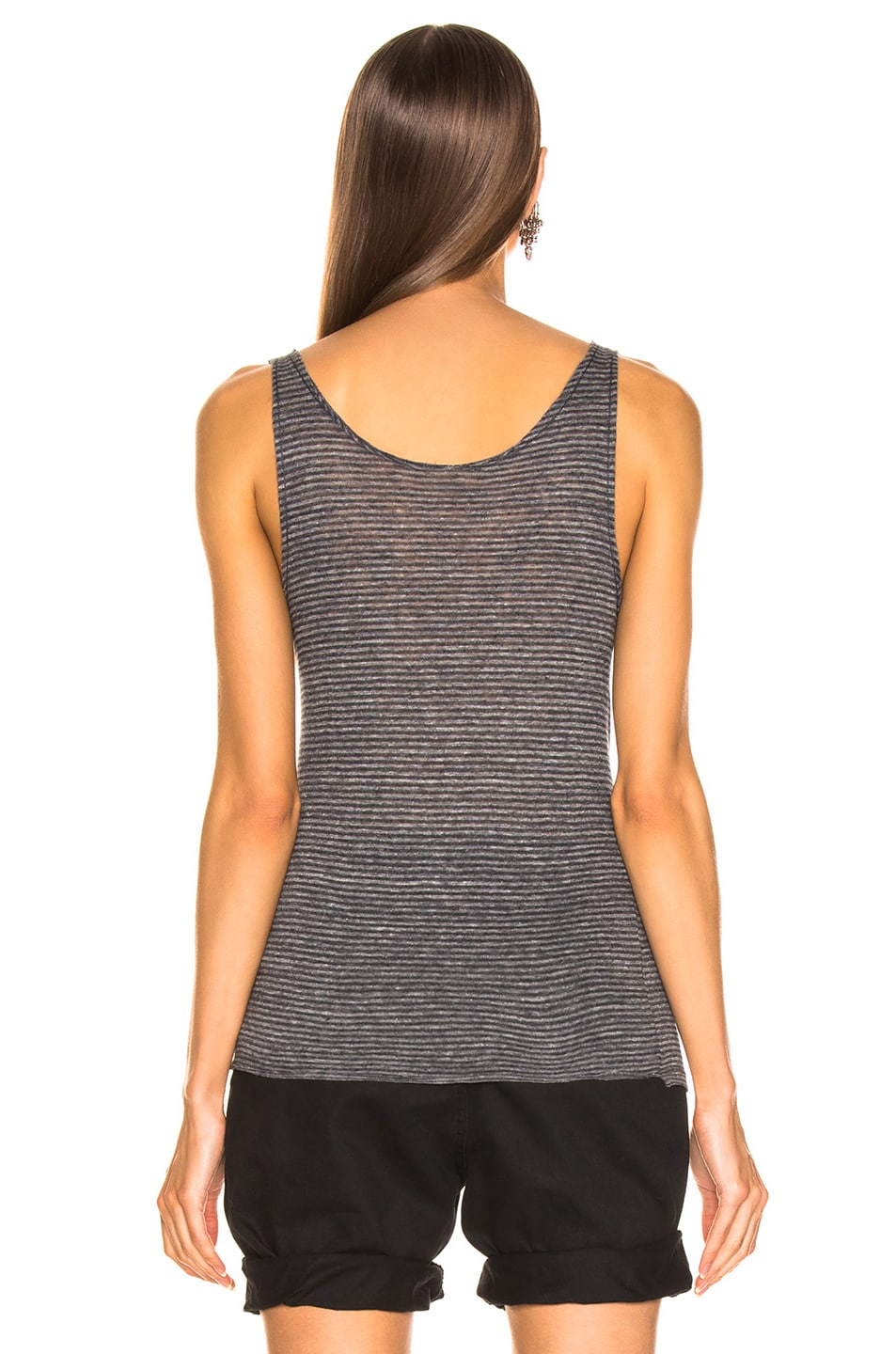 Image 3 of Saint Laurent Tank Top in Gray