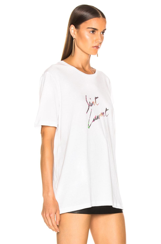 Image 3 of Saint Laurent Logo Shirt in Natural Multicolor