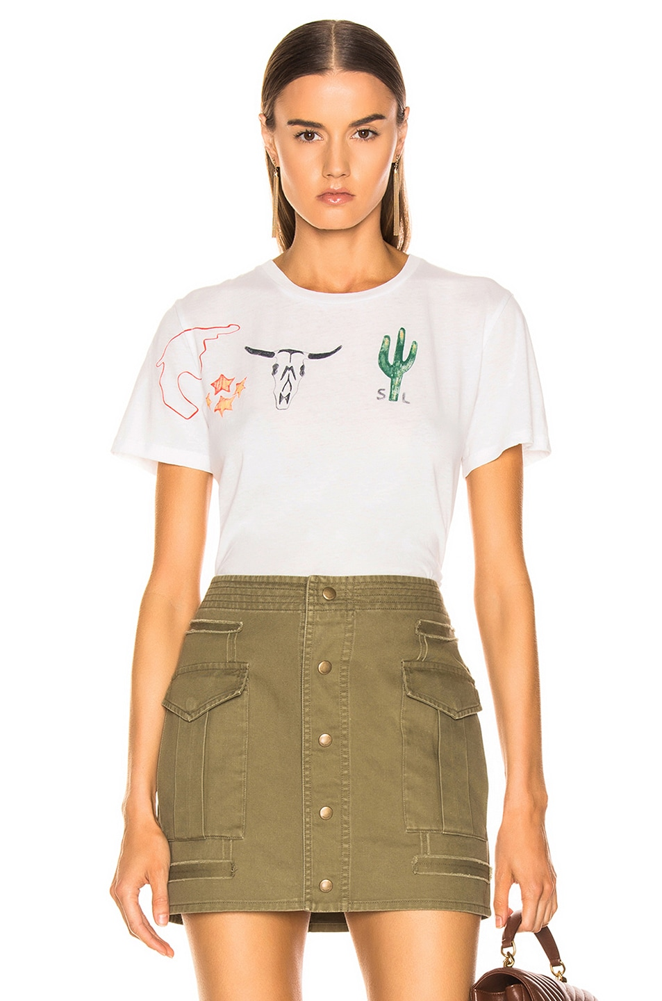Image 1 of Saint Laurent Graphic Shirt in Natural Multicolor