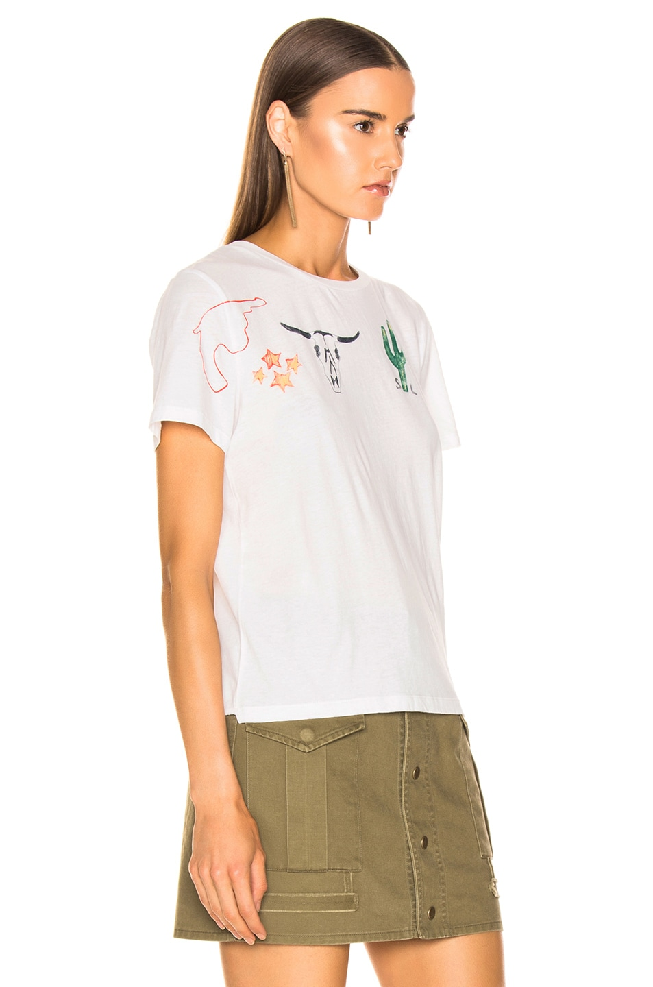 Image 2 of Saint Laurent Graphic Shirt in Natural Multicolor
