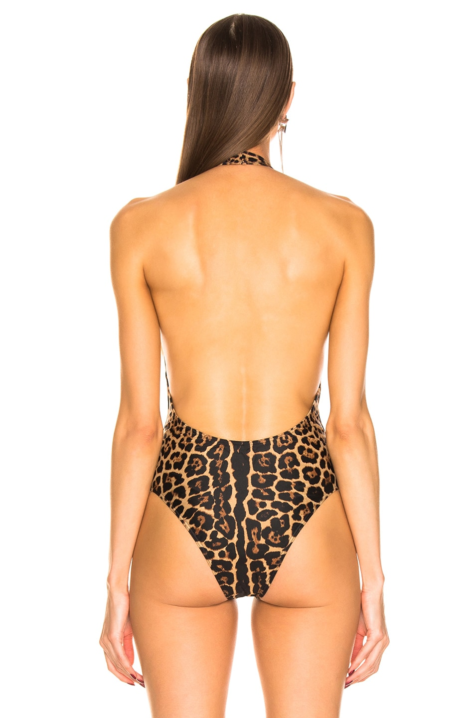 Image 4 of Saint Laurent Bodysuit in Leopard