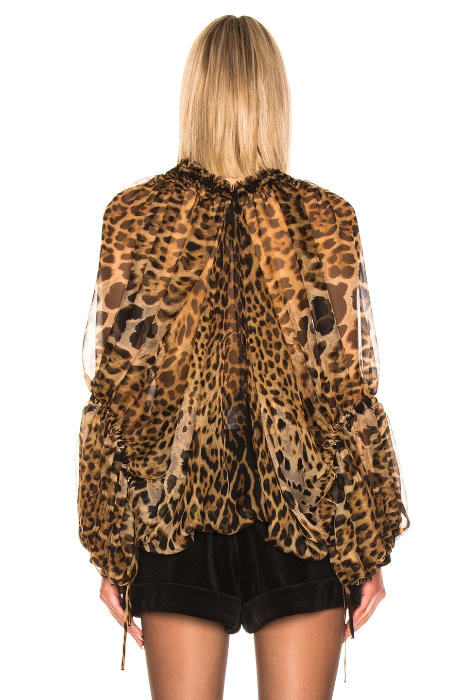 Image 3 of Saint Laurent Leopard Blouse in Leopard