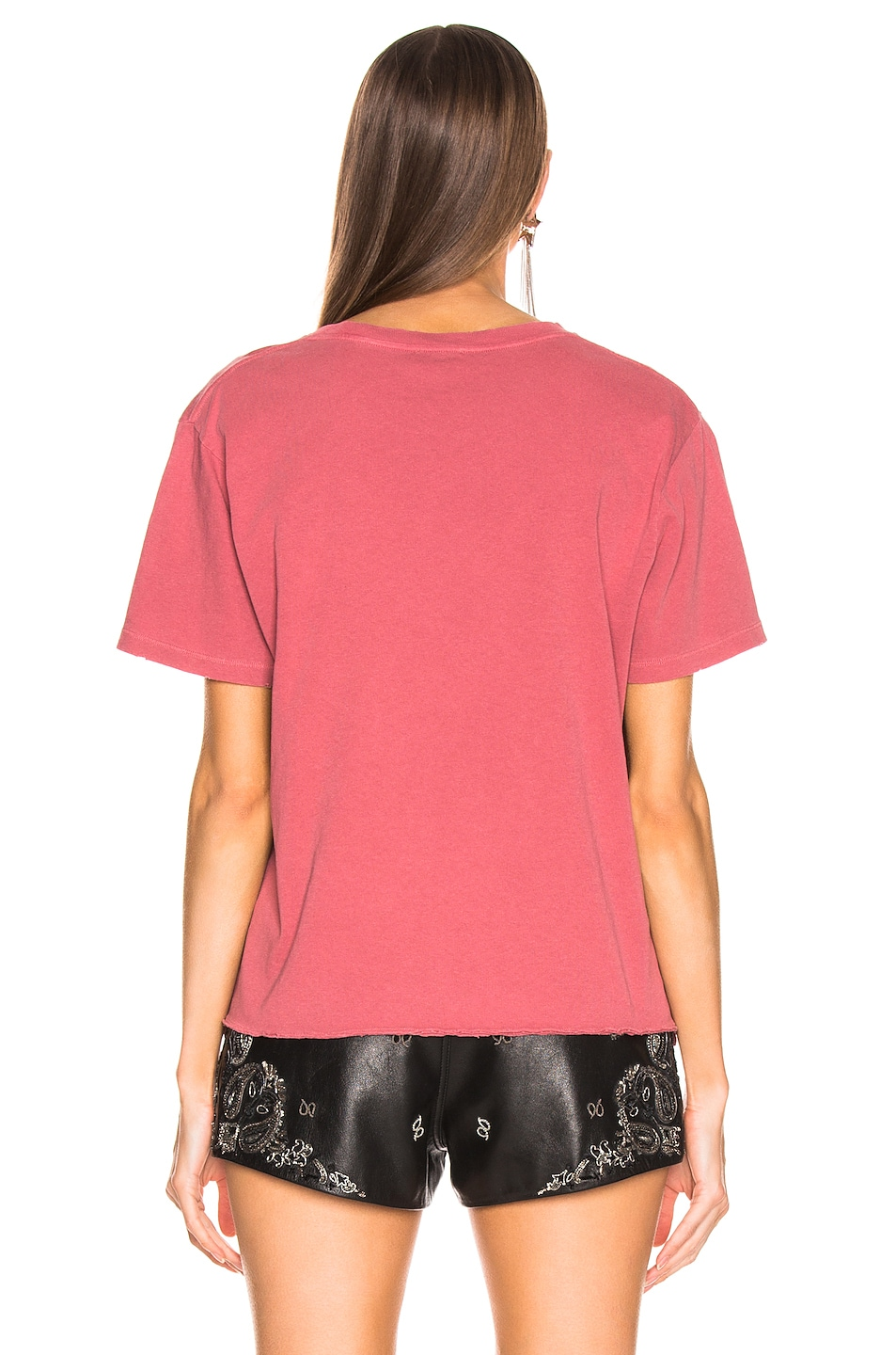 Image 4 of Saint Laurent Logo Tee Shirt in Red
