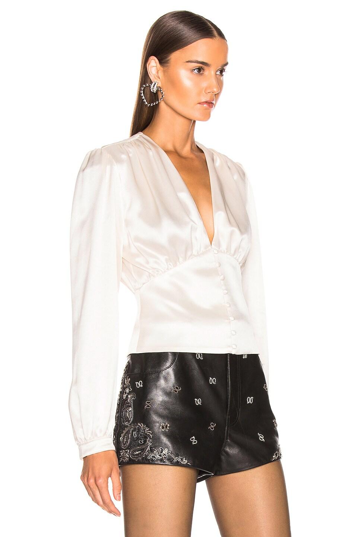 Image 2 of Saint Laurent Satin Blouse in White