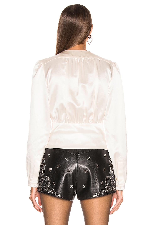 Image 3 of Saint Laurent Satin Blouse in White