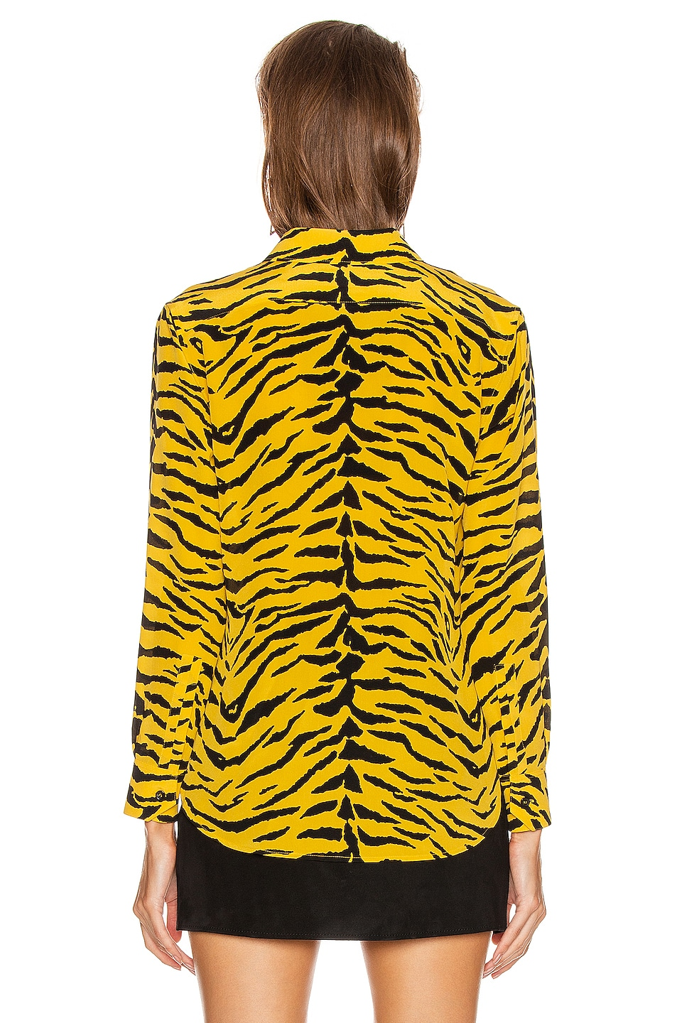 Image 3 of Saint Laurent Zebra Collared Classic Shirt in Yellow & Black