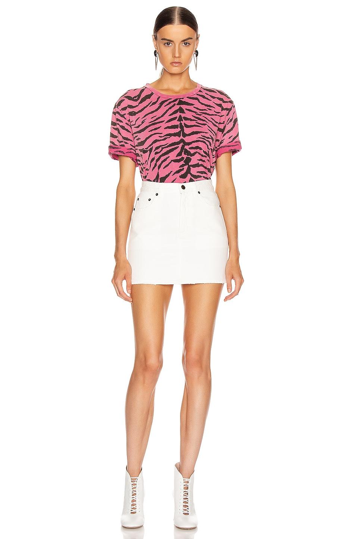 Image 4 of Saint Laurent Zebra T Shirt in Rose & Black