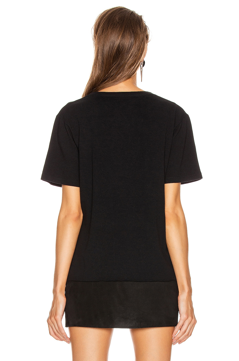 Image 3 of Saint Laurent Logo T Shirt in Black & Multicolor