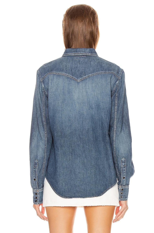 Image 3 of Saint Laurent Classic Western Shirt in Vintage Blue