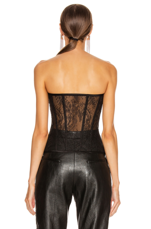 Image 3 of Saint Laurent Strapless Bustier Top in Black
