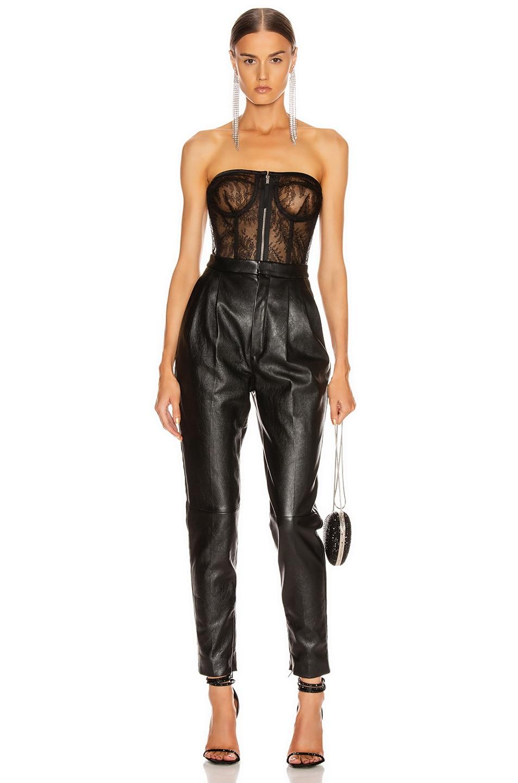 Image 4 of Saint Laurent Strapless Bustier Top in Black