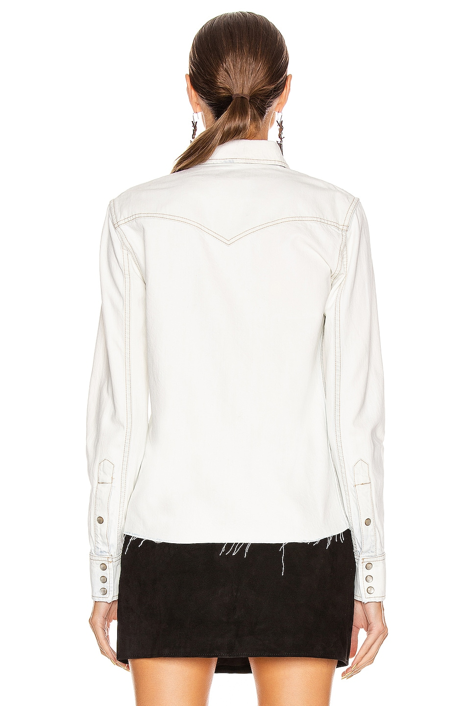 Image 4 of Saint Laurent Classic Western Shirt in Bleached Blue
