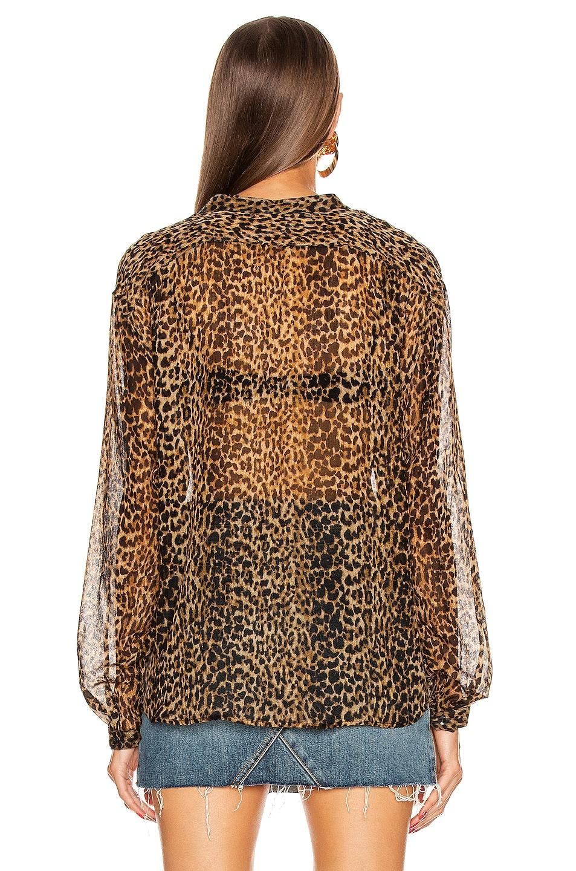 Image 4 of Saint Laurent Long Sleeve Top in Leopard