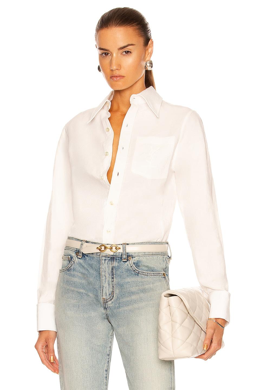 Image 1 of Saint Laurent Pocket Blouse in Craie