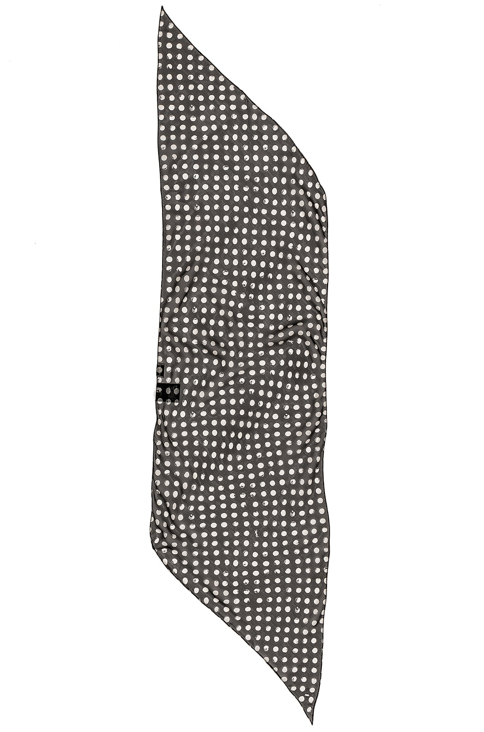 Image 2 of Saint Laurent Silk Polka Dot Scarf in Black & White