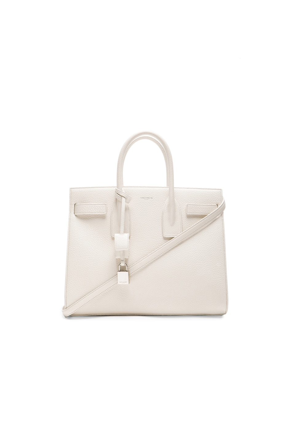 Image 1 of Saint Laurent Small Sac De Jour Carryall Bag in White