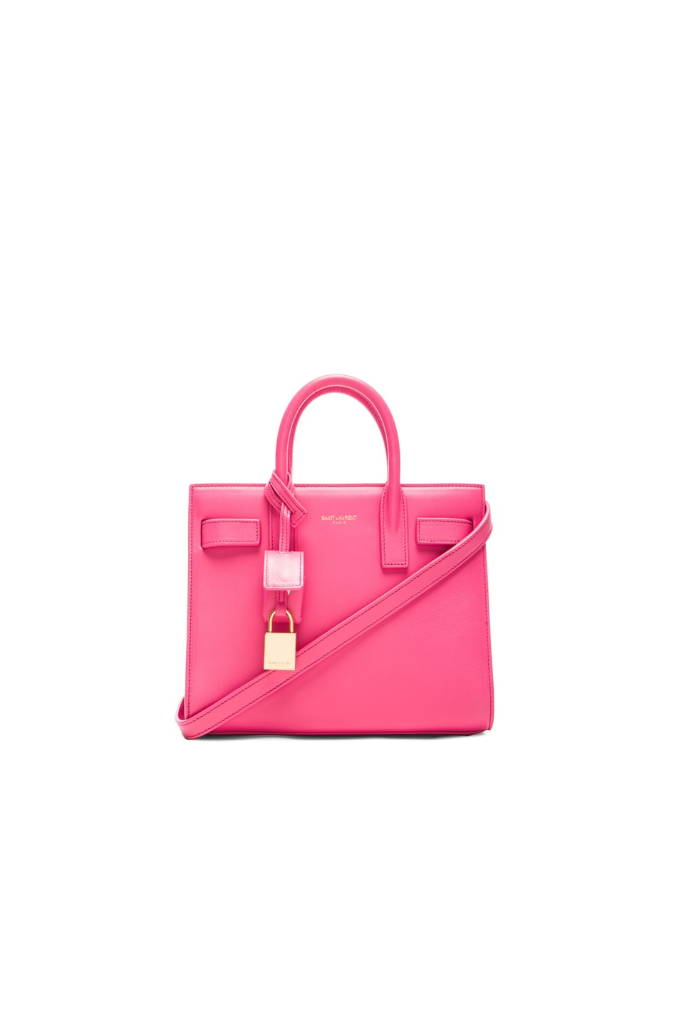 Image 1 of Saint Laurent Nano Sac De Jour Carryall Bag in Lipstick Pink